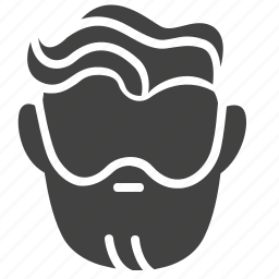 barber, beard, hair, head, man, people, service icon