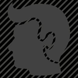 barber, hair, head, man, people, service icon
