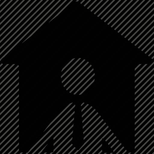 holder, home owner, house owner, land owner, landholder, property owner icon