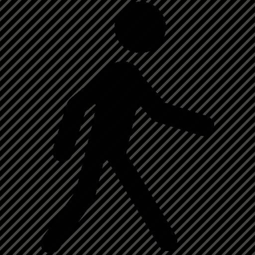 man pedestrian person traveler walker icon icon