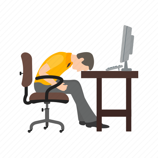 exhausted, job, lazy, sleepiness, sleepy, tired, worker icon