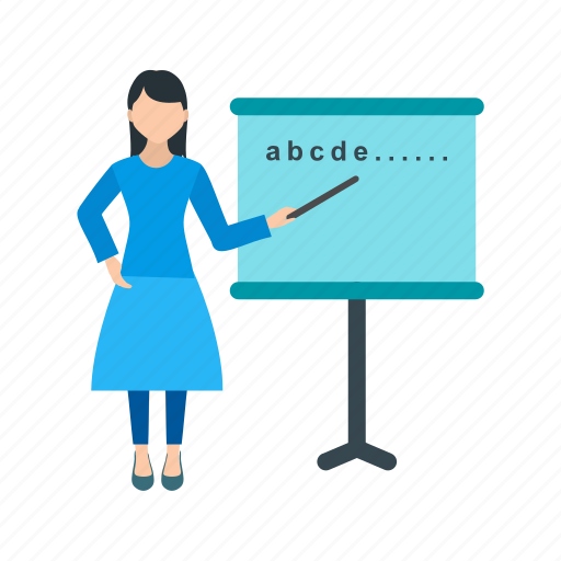 classroom, college, education, school, students, teacher, woman icon