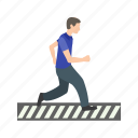 crossing, pedestrian, people, road, sign, walk, zebra icon