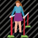 amusement park, girl in park, girl swinging, kids park, park entrance icon