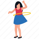 gymnastic practice, gymnastic ring, hoop exercise, physical exercise, school exercise icon