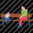 park amusement, park bench, park fun, park sitting, playground icon