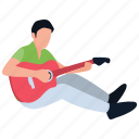 guitar students, guitarist, music class, music students, music training, singing class icon