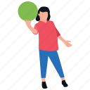 ball playing, family fun, outdoor games, park games, softball playing icon