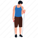 fitness rope, fitness tricks, physical activity, physical game, rope exercise, workout icon