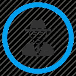 cia spy, detective, fbi agent, gentleman, secret service, security, thief icon