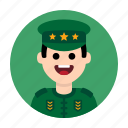 army, commander, general, military, officer, soldier, war icon