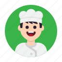 avatar, chef, cook, cooking, kitchen, man, restaurant icon
