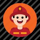 emergency, fire, firefighter, fireman, job, occupation, rescuer icon