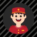attendant, avatar, boy, hotel, lobby, service, valet