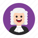 court, judge, justice, law, legal, magistrate, trial icon