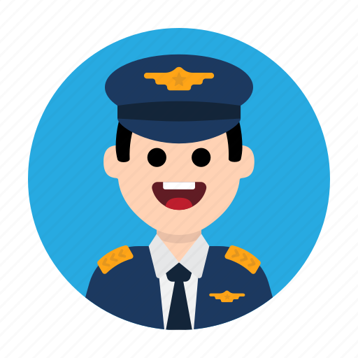 Aircraft, airport, captain, flight, fly, pilot, plane icon - Download on Iconfinder