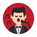 concert, music, opera, show, sing, singer, song icon