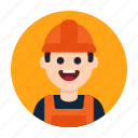 builder, construction, constructor, engineer, job, labour, worker icon