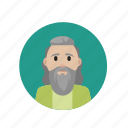 elderly, long beard, magician, painter icon