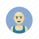 athletic, bald, fitness, russian icon