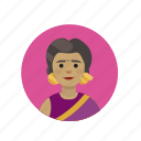 buddhism, hindu, hinduism, indian woman icon