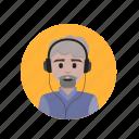 beard, goatee, listening, music icon