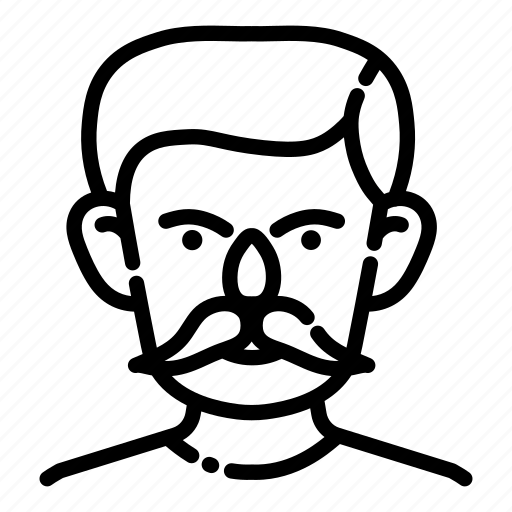 avatar, face, human, male, man, mustache, people icon