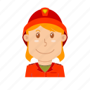 avatar, fire, fire fighter, fire guard, fire woman, people, profession icon