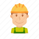 avatar, constructor, engineer, helmet, people, profession, safety icon