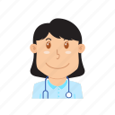avatar, doctor, health, hospital, people, profession, stethoscope icon