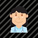 avatar, doctor, health, hospital, people, profession, stethoscope icon