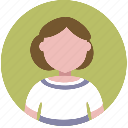account, avatar, girl, people, person, profile, woman icon