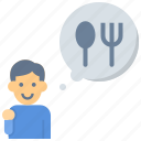 gourmet, nutritionist, hungry, meal, eating, chef, cooking icon