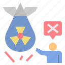 nuclear, campaign, protest, radioactive, forbidden, resist icon