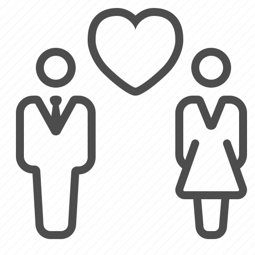 couple, dating, heart, love, man, relationship, woman icon