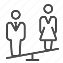 boss, couple, man, marriage, people, seesaw, woman icon