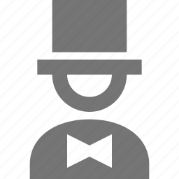 bow tie, magician icon
