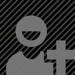 clergy, monk, priest icon