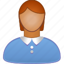 business lady, client, female, girl, person, user, woman profile icon