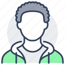 person, avatar, afro, black, man