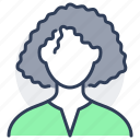 person, avatar, afro, black, woman