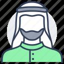 person, avatar, muslim, beard, moslem, adult