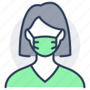 person, avatar, teenager, mask, lady, woman