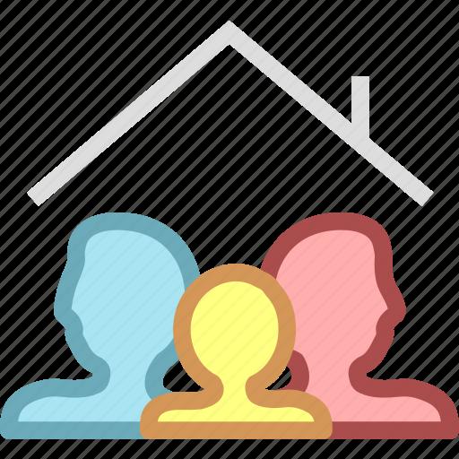 family, home, member, membership icon
