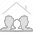 family, home, membership icon