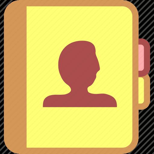 address book, contact book, contact person icon