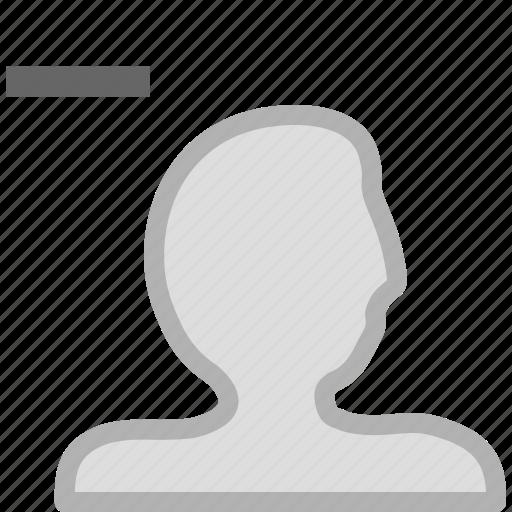 account, delete account, remove user, user icon