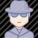 agent, emissary, espionage, lurcher, spier, spy icon