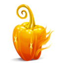 fire, orange, pepper icon