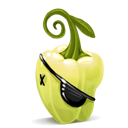 pepper, pirate icon